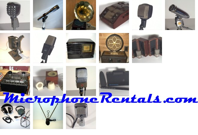 MicrophoneRentals.com || supplying vintage microphones and period electronics to the entertainment industry.